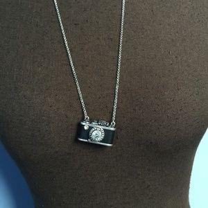 3/$30 Fossil Camera Pendant Necklace